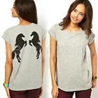 New Women's Basic Round Neck T-Shirt Short Sleeve Tops Fitted Comfy Blouse Tee