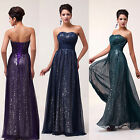 Off Shoulder Long Sequins Wedding Evening Formal Bridesmaid Ball Gown Prom Dress