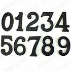 BLACK ANTIQUE FRONT DOOR NUMBERS ★CHOOSE 0-9★ House Building Porch Wall Numerals