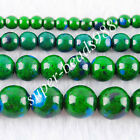 Freeshipping Green Turquoise Round Loose Beads 4MM 6MM 8MM 10MM Pick SBG114