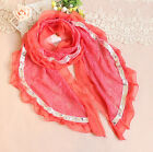 Attractive Bright countryside Lace Long Soft Scarf Wrap Shawl Stole For Women