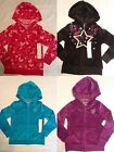 TOTAL GIRL Size 4 5 or 6 Choice Hooded Velour Sweatshirt NWT Zip Front Blue Pink