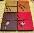 Retro Vintage Leather String Key Blank Diary Journal Sketchbook Classic Notebook