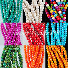 Howlite Turquoise 4MM(Approx90PCS) Round Loose Beads 15 1/2 Inches Strand SBG135