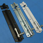 WIDE TOWER BOLT RANGE ★CHOOSE SMALL-LARGE★ Long Shed/Gate/Door Latch/Catch Locks