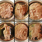 6 x 1oz Copper American Indian Series Coins Bullion Round Buffalo Head 5-10-20