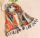 LOVELY LUSTA Pure cotton wave point  Long Soft Scarf Wrap Shawl Stole WJ0072-75
