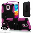 For Samsung Galaxy S5 SV i9600 + Belt Clip Holster Case Cover Screen Protector
