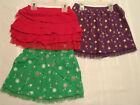 Girls Size 3T 4T 5T or 18 Month Skirt Choice NWT Red Tiered Purple Green