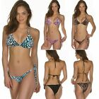 Bikini Brazil Set Brazilian Bottom String Swimwear Colourful Leopard Swimsuit