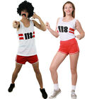 118 COSTUME MARATHON MENS TOP SHORTS RETRO FANCY DRESS LADIES VEST STAG HEN DO