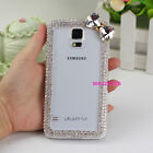 3D Bow Bling Diamond Case Cover For iphone 5s 6 Samsung Galaxy Note 3 4 N9100 S5