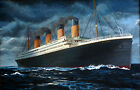Titanic RMS POSTER FRAMED ON CANVAS & MOUNTED