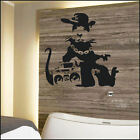 LARGE BANKSY STREET ART RAT WITH STEREO WALL STICKER STENCIL TRANSFER