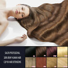 Clip in 100% Remy Human Hair Extensions Full Color 16-26 Inch