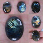 30mm to 40mm Labradorite oval focal flatback cab cabochon 1.2 to 1.6""