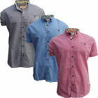 Brave Soul MSH 69 Cerberus Mens New Gingham Checked Casual Summer Branded Shirt