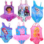 NEW Frozen Elsa Swimsuit Girls Swimming Costumes Bathing Suit Dora Swimwear 2-9Y