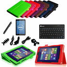 """For Dell Venue 8"""" Android Tablet Leather Case Cover+ Bluetooth Keyboard +Bundles"""