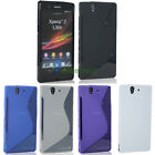 For Sony Xperia Z L36h C6603 Flexible Rubber Soft S-Line GEL TPU Case Cover Skin