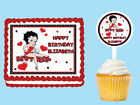 BETTY BOOP Edible Birthday Party Cake Topper Cupcake Plastic Picks $8.75 USD