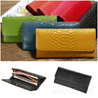 New Womens Crocodile Pattern Wallet Genuine Leather Clutch Bag Card Holder Purse
