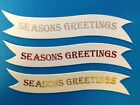 10 SEASONS GREETINGS CHRISTMAS SENTIMENT BANNER CARD MAKING EMBELLISHMENTS