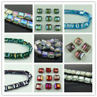 Beautiful Square 14mm Faceted Glass Crystal Loose spacer Beads color choose