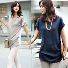 2014 New Womens Chiffon Blouse Short Sleeve Casual Tops Button Down Shirt Blouse