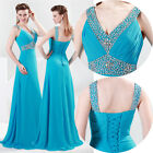 Long Chiffon Evening Formal Party Ball Gown Prom Bridesmaid Dress 8 10 12 14 16