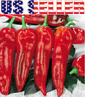 30+ ORGANICALLY GROWN Marconi Rosso Pepper Seeds Heirloom Sweet NON-GMO GIANT US