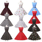 Hot Charming Vintage Rockabilly Polka dots 50s 60s pinup Housewife Dress XS-XL