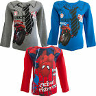 Marvel Spiderman Boys Long Sleeve Top Grey, Red, Blue Size: 3-8 Years