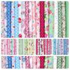 BIG BUNDLE NEW 100% COTTON FLORAL FABRIC MATERIAL REMNANTS OFFCUTS ±