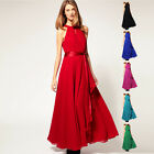 Women's Long Polyester Evening Formal Party Ball Gown Prom Bridesmaid Dress A174