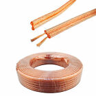 10m 20m Car Loudspeaker Cable Wire HiFi Home Car Audio Loud Speaker 2x 0.5mm OFC