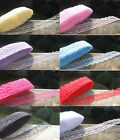 Wholesale 100 Yard Unilateral Embroidered Net Lace Trim Ribbon multicolor choice
