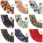 "Frost / Crackle / Spong / Faceted Round Beads Gemstone Strand 15"" Size Pick"