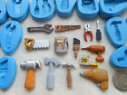 Sugarcraft/FIMO Mould: Tools - Hammer Saw Drill Pliers Spanner Paint Pot Tape