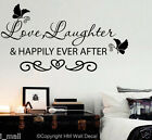 Love Laughter & Happily Ever After Vinyl Wall Decal-wall art sticker