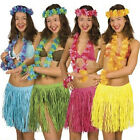 5pcs Hawaiian Luau Garland Headband Wristband Party Hula Skirt Fancy Dress Grass
