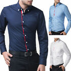 Men's Slim Casual/formal Vogue collared Italian Design Business Shirts Tops S~XL