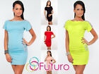 ☼ Women's Mini Dress With Sequins ☼ Short Sleeve Boat Neck Tunic Size 8-12 5960
