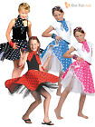50s Rock N Roll Girls Fancy Dress 1950s Jazz Bopper Kids Childs Costume Outfit