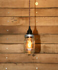Ball Jar Pendant Light - Mason Jar Light - Hanging Mason Jar Pendant Light