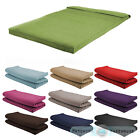 Fabric Double Size Futon Mattress Folding Foam Filled Removeable Cover 2 Seater