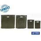 NEW BLACK AND GOLD STRIPED CARRIER BAGS STRONG PLASTIC CARRIER BAGS  30 MICRON