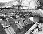 1936 GRAND COULEE COLUMBIA RIVER DAM CONSTRUCTION PHOTO