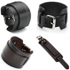 New Fashion Punk Gothic Genuine Leather Belt Mens Bracelet Wristband Bangle Cuff