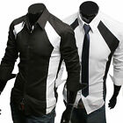Men's Luxury Casual Slim Fit Stylish Dress Shirts Long Sleeve Formal Shirt Tops